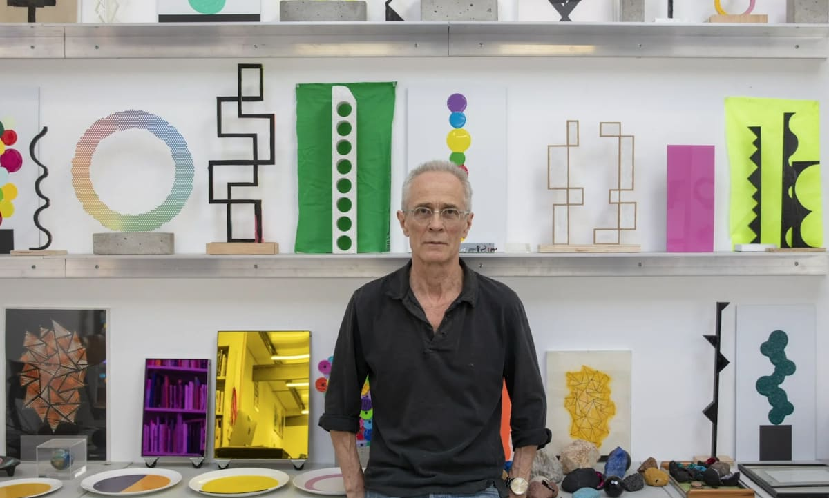 David Batchelor in the studio, May 2020