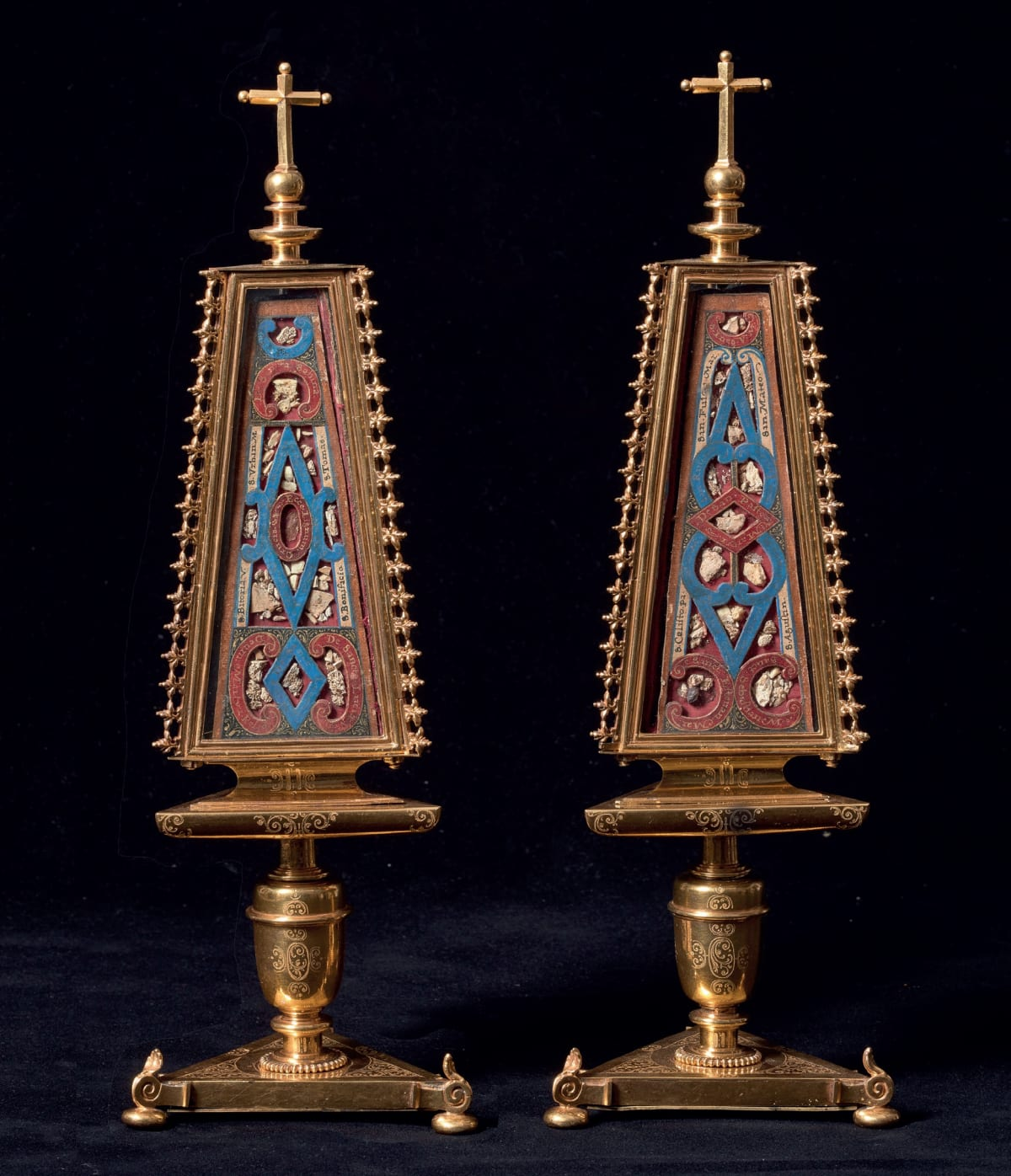 Anonymous from Madrid, Pair of reliquaries, First quarter of the 17th century