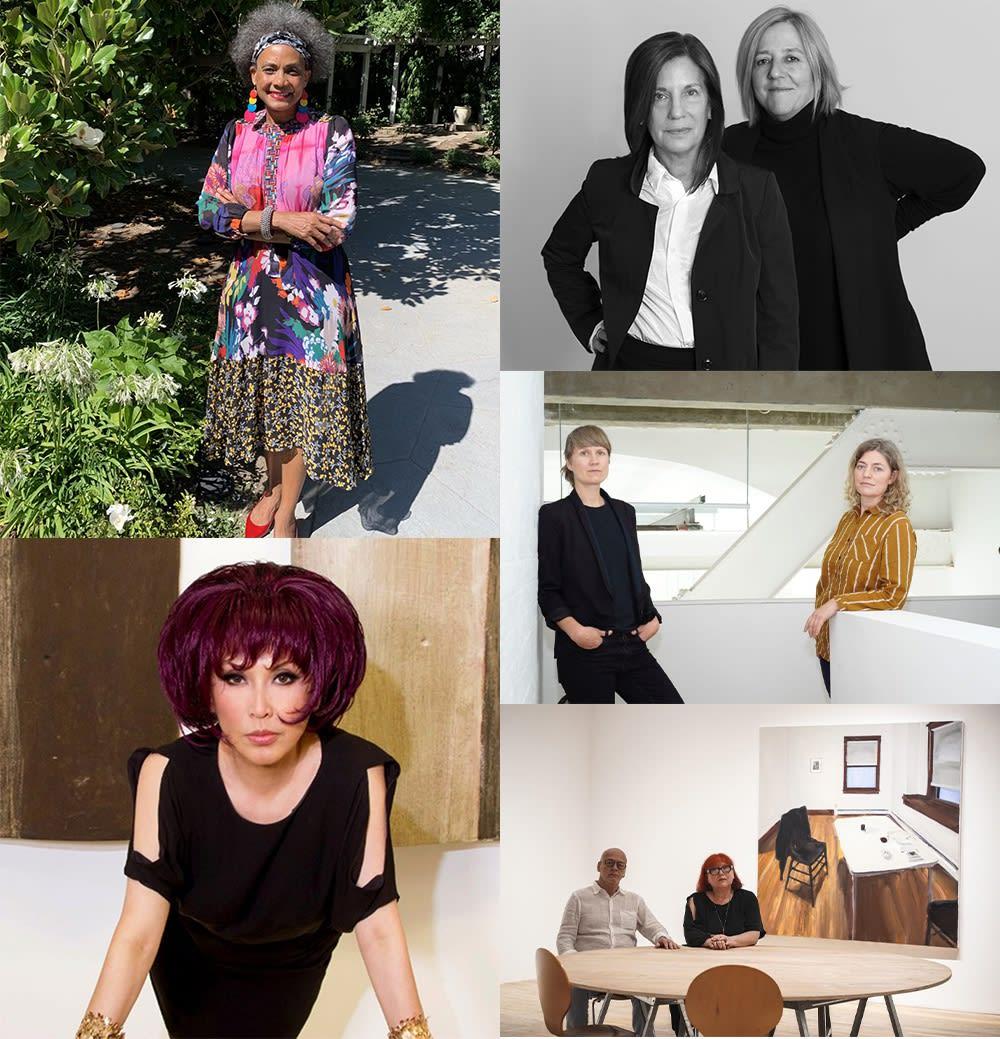 Clockwise from top left: Karen Jenkins-Johnson;Wendy Osloff & Penny Pilkington; Lisa Pantin & Malin Stahl; Magda Sawon & Tamas Banovich; and Pearl Lam