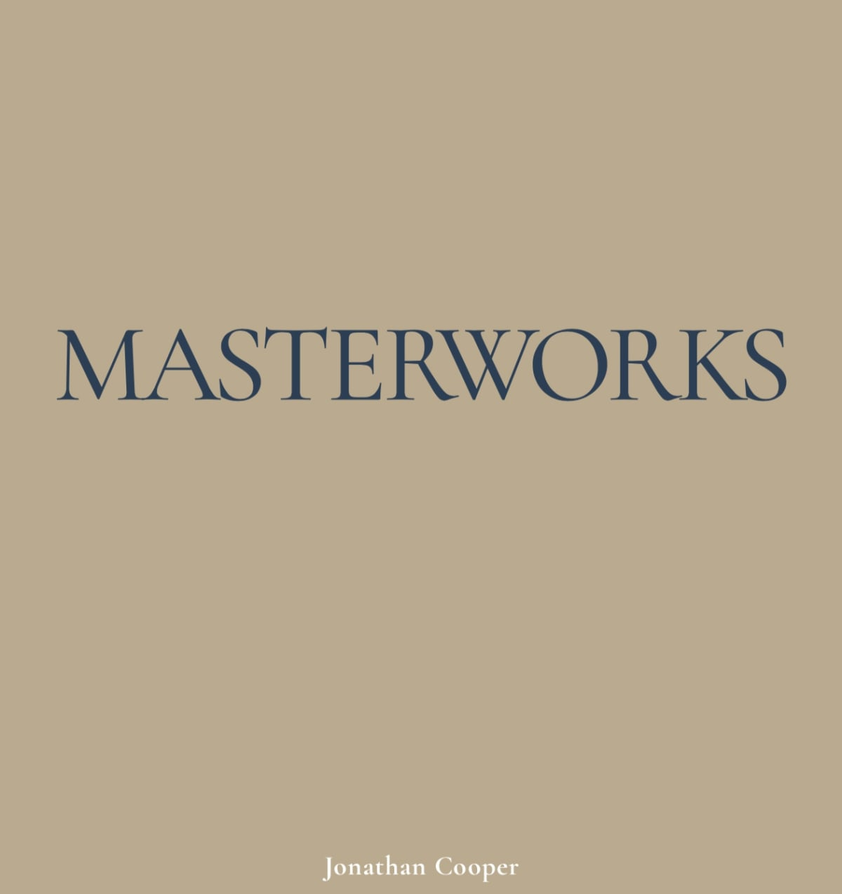 Masterworks | Presented by Jonathan Cooper