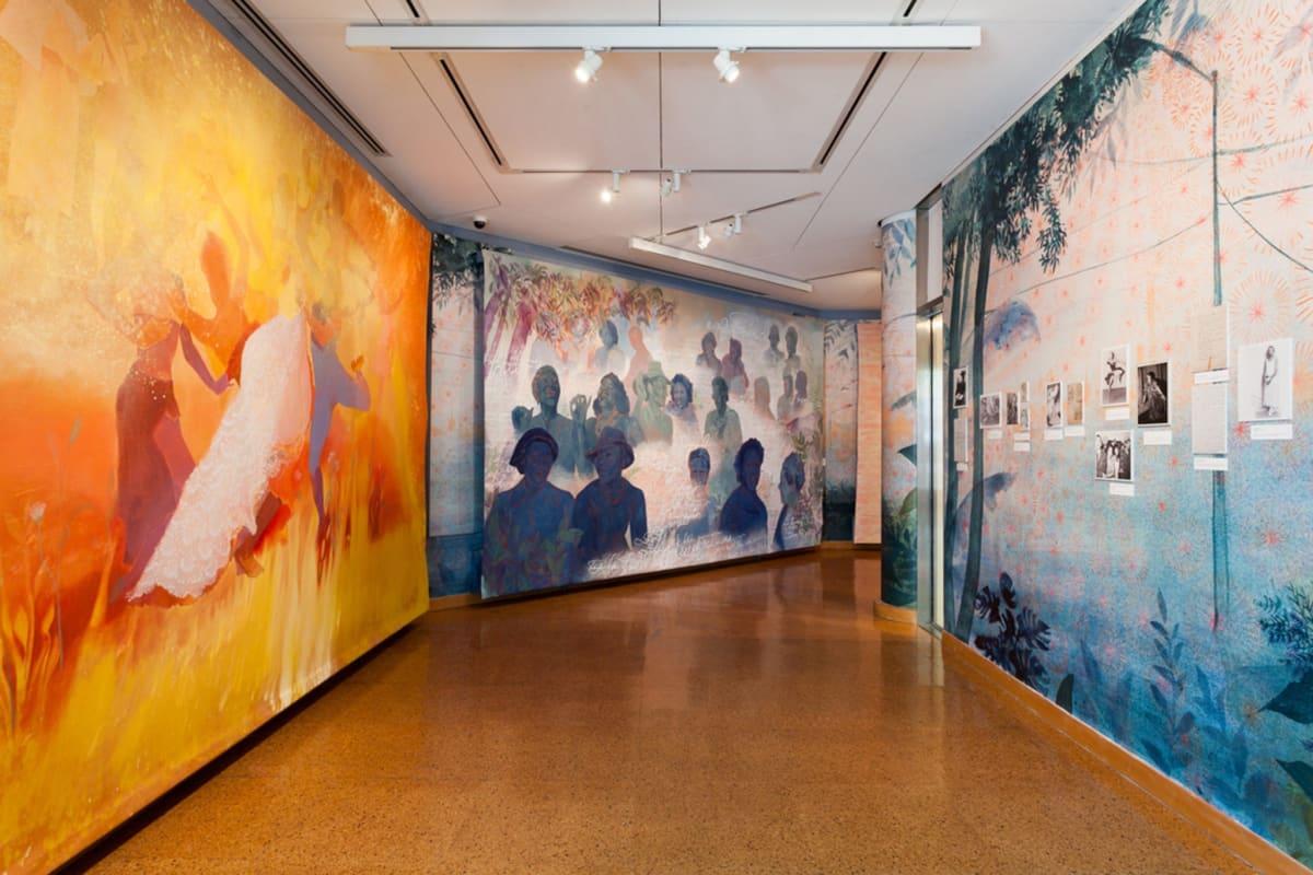 An installation view of Firelei Báez's