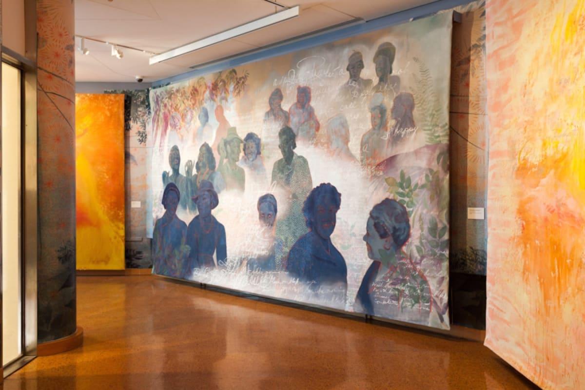 Firelei Báez, Joy Out of Fire (detail), 2018. Photo: John Lusis. Courtesy the artist and Kavi Gupta Gallery, Chicago.