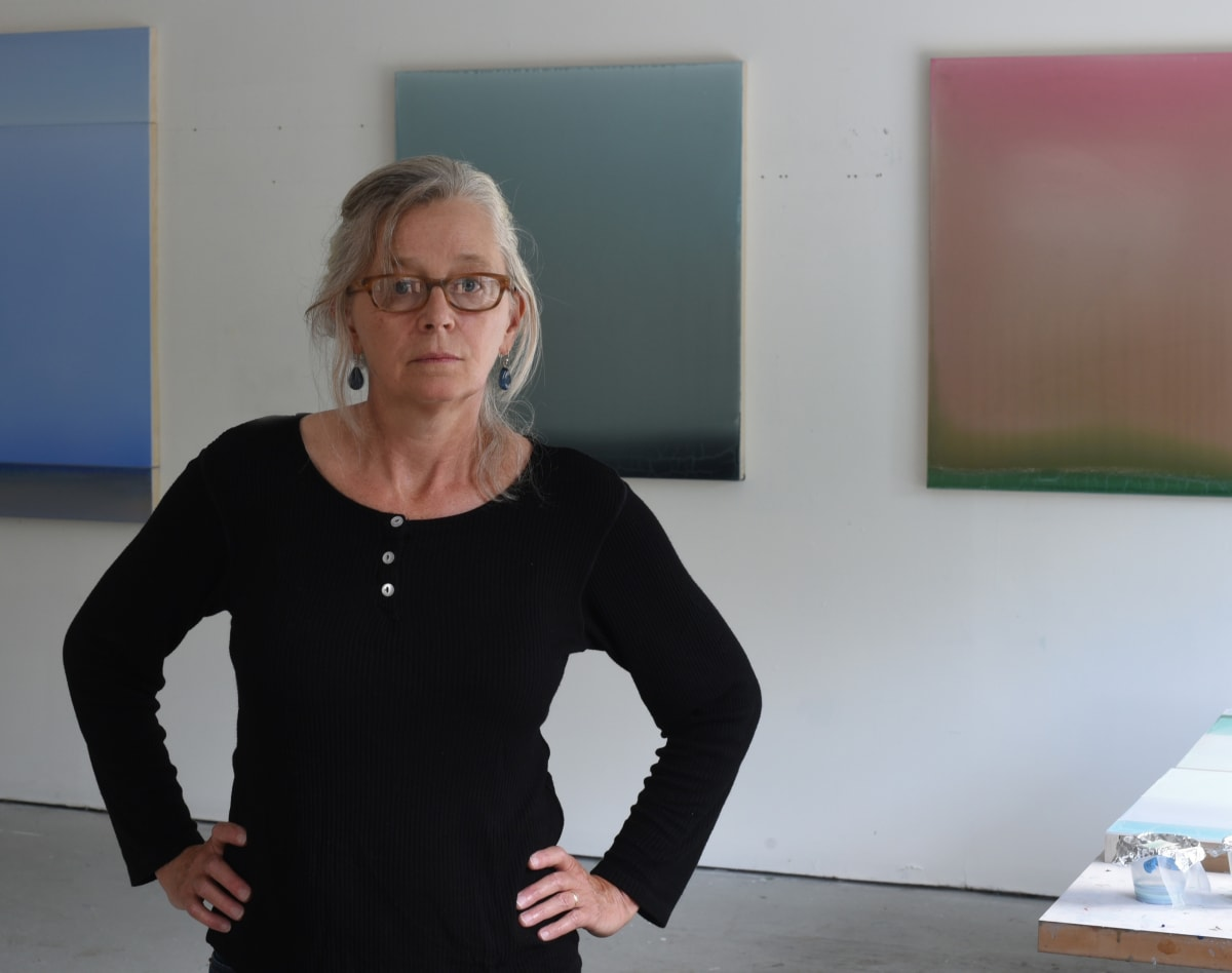 Susan English in her studio, photo credit: Dmitri Kasterine