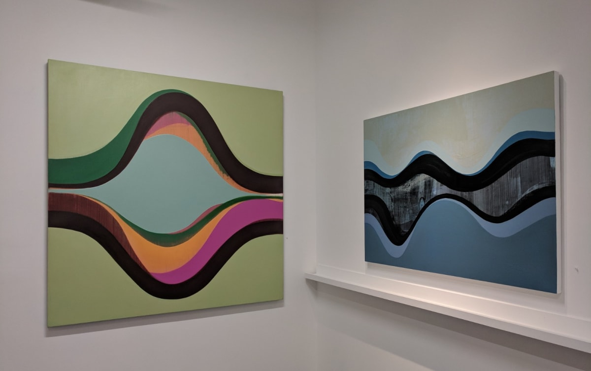installation view ADVANCE (sold) and EMISSARY