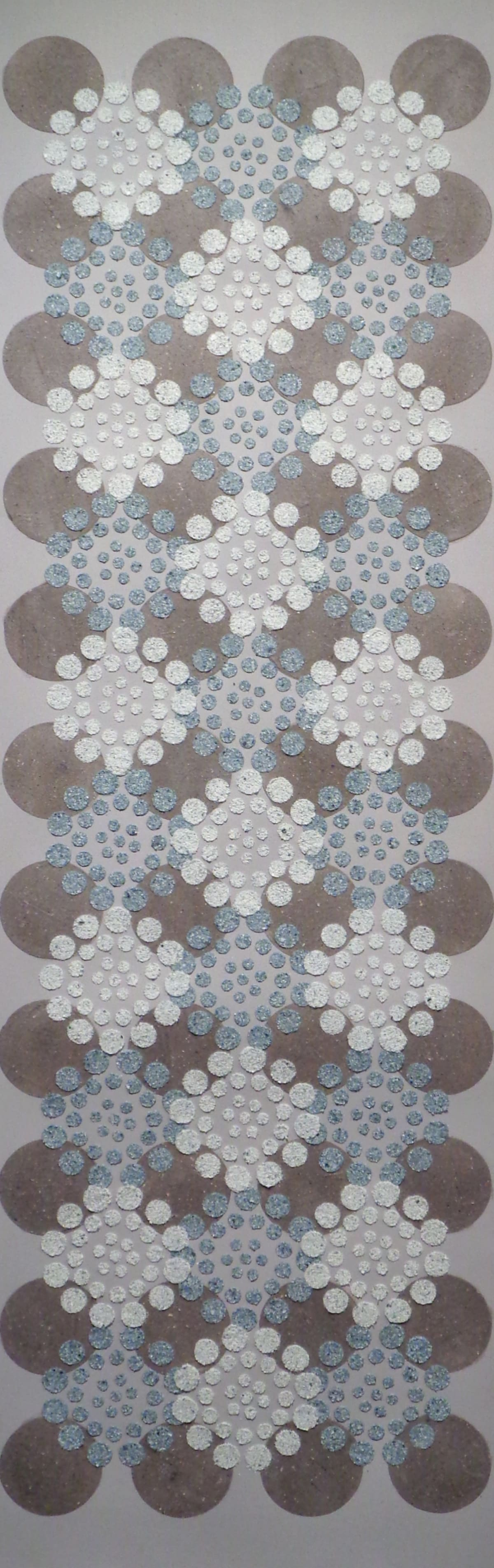 Eleanor White Blue Brown Dots, 2018