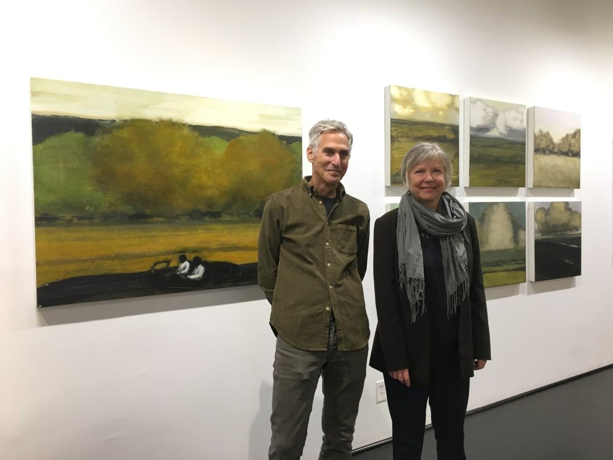 David Konigsberg and painter Margaret Neill
