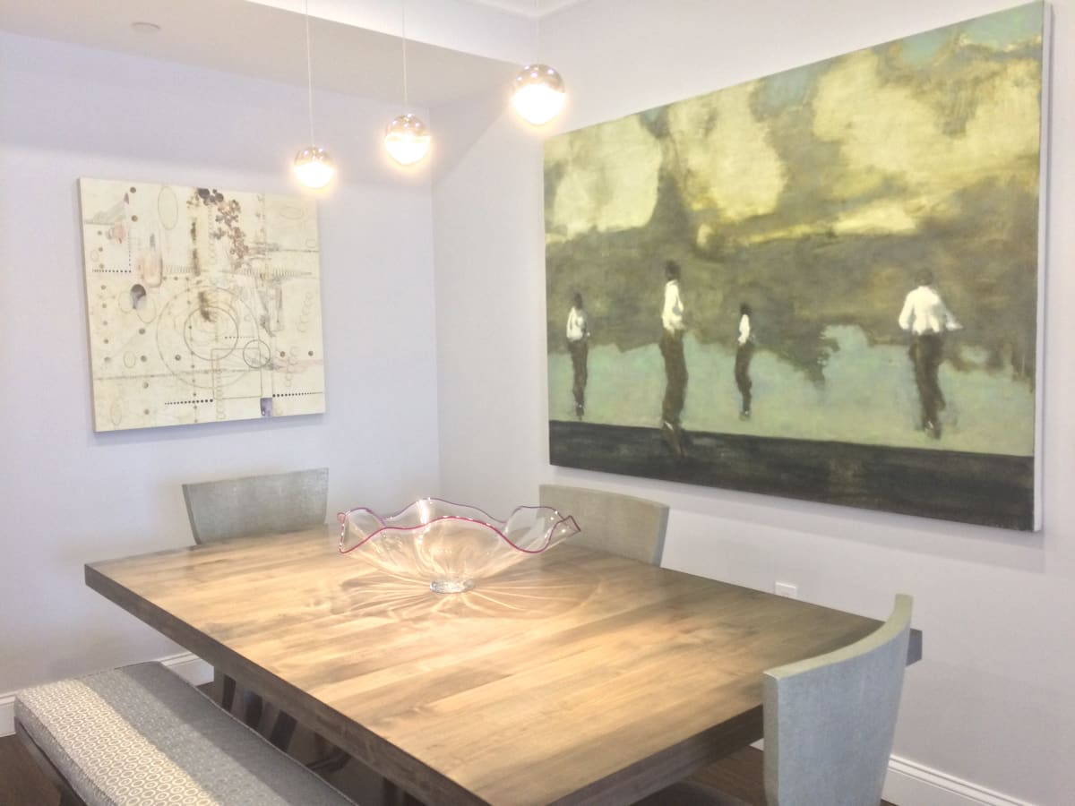 paintings by Lorraine Glessner and David Konigsberg, private collection, Larchmont, NY