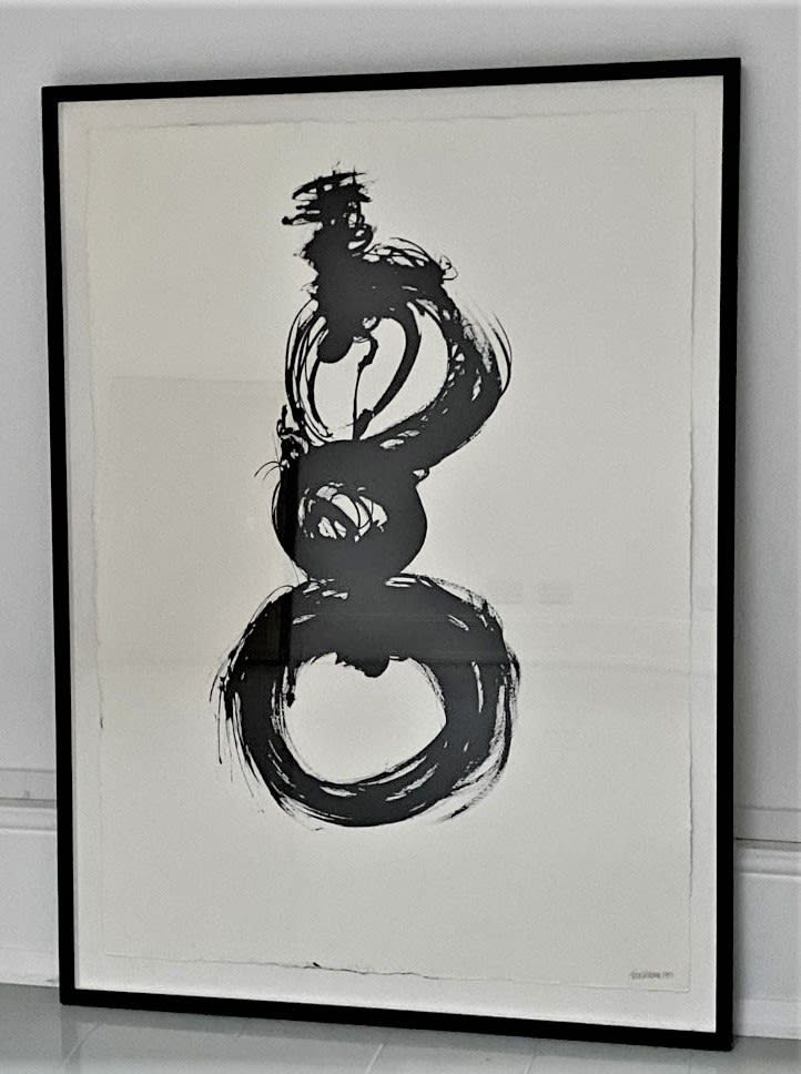 Terence Donovan Number 12 acrylic on paper 117 x 85.5cm signed