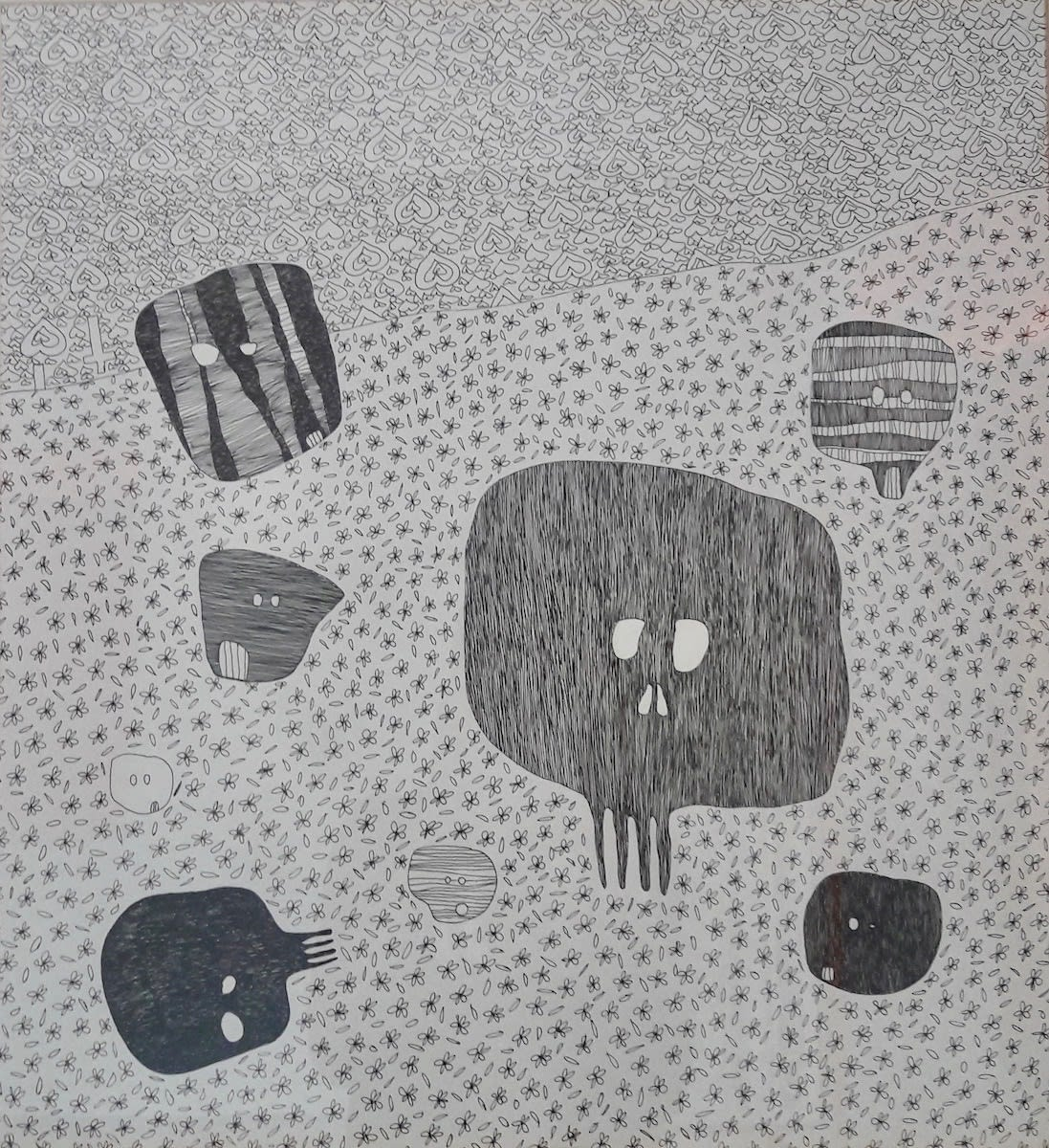 Waswad Beneath Amazing Stuff 2016 Ink On Paper 46 Cm X 50 Cm