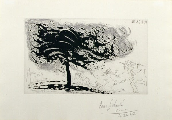 Pablo Picasso, Trees in the Storm, 1968 Sugarlift Aquatint