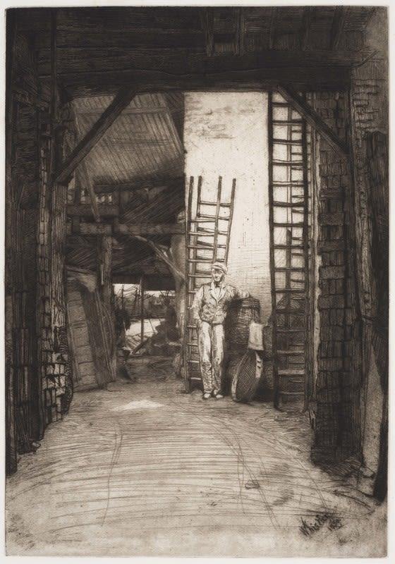 James McNeil Whistler, The Lime-Burner, 1859 Drypoint