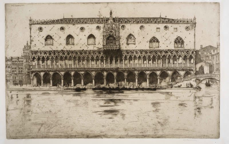 Sir David Young Cameron, The Doge's Palace, 1902 Drypoint