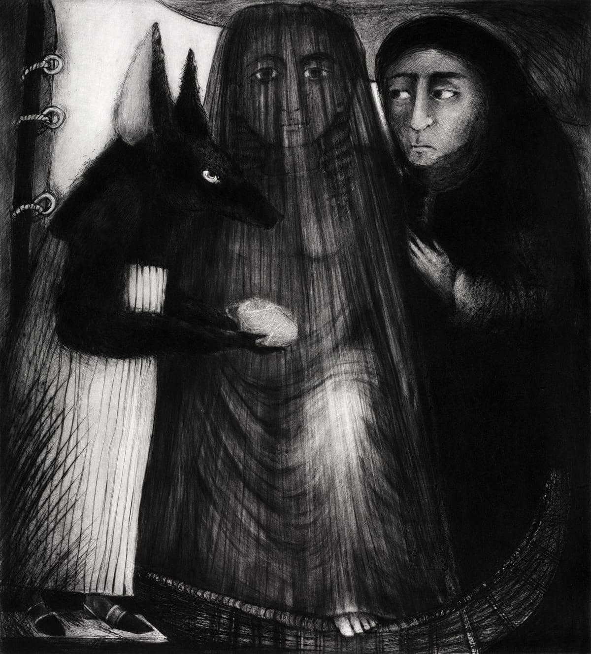Ana Maria Pacheco, Dark Event VII, 2007 Drypoint