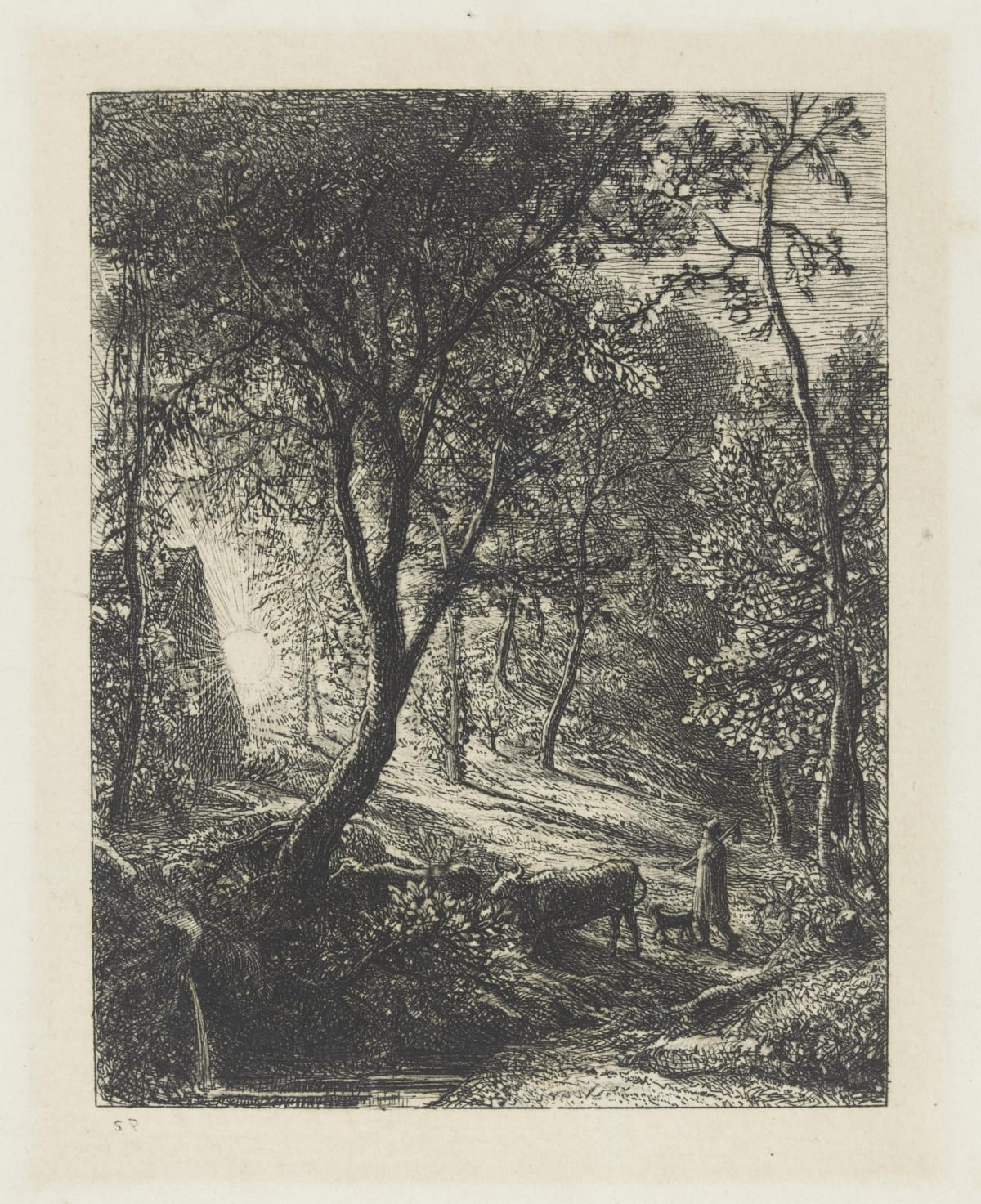 Samuel Palmer, The Herdsman's Cottage, 1850 Etching © Royal Academy of Arts