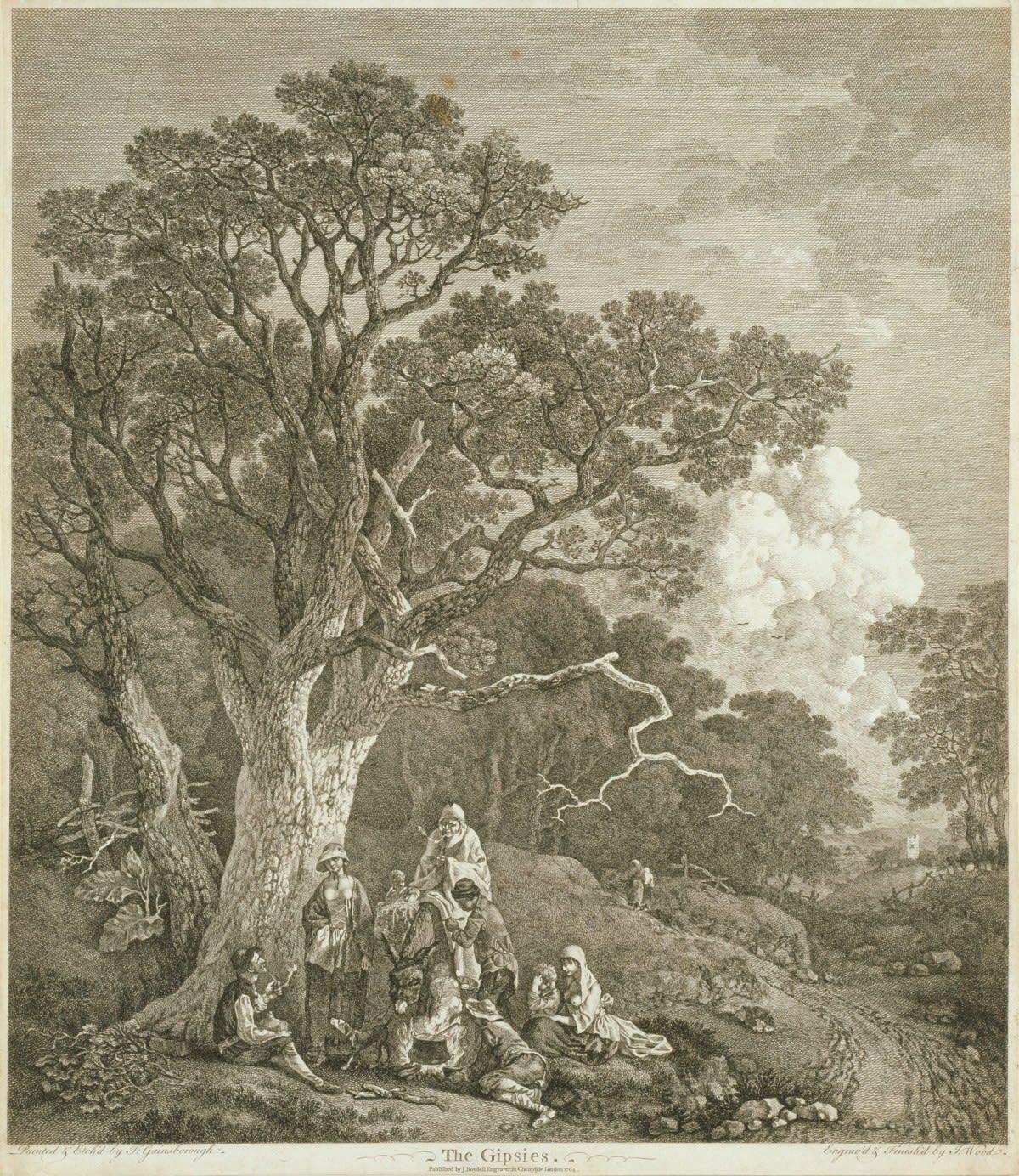 Thomas Gainsborough, The Gypsies, c.1724 Etching © Royal Academy of Arts