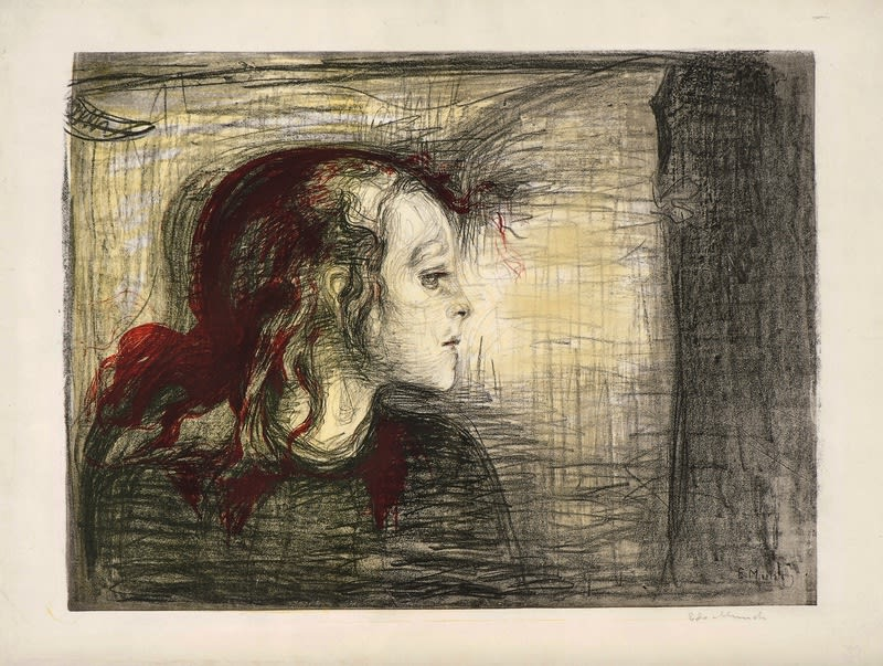 Edvard Munch, The Sick Child, 1896 Lithograph