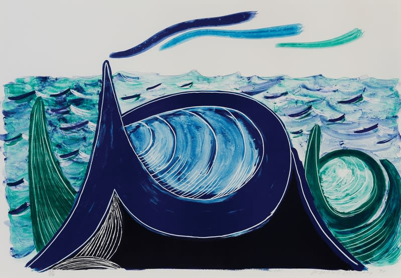 David Hockney, The Wave, 1990 Lithograph