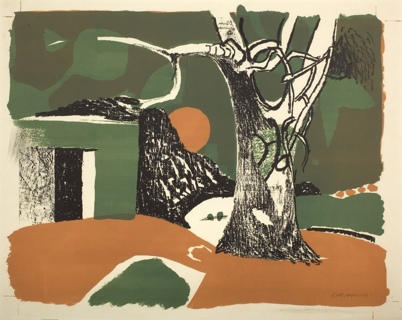 Keith Vaughan, Winter Landscape, 1949 Lithograph