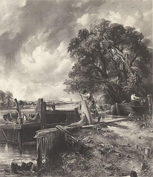 David Lucas, after John Constable, The Lock, 1834 Mezzotint
