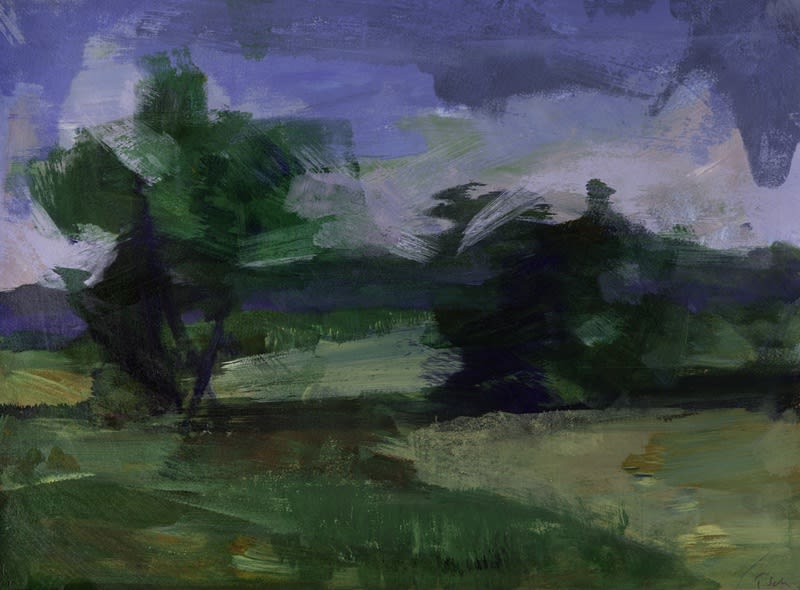 Tai Shan Schierenberg, Two Trees (B), 2015 Monotype