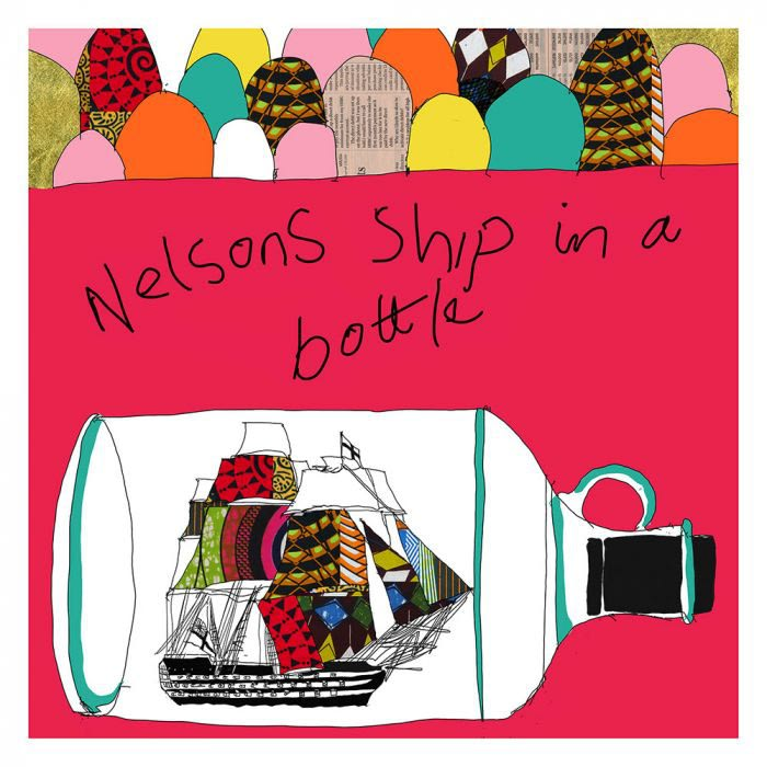 Yinka Shonibare RA, Nelson's Ship in a Bottle (Red), 2016 Screenprint 65 x 68 cm Edition of 20 Courtesy of Royal Academy of Arts