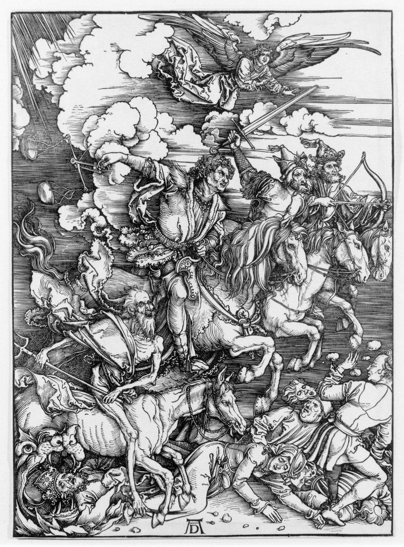 Albrecht Durer, Four Horsemen of the Apocalypse, 1499 Woodcut