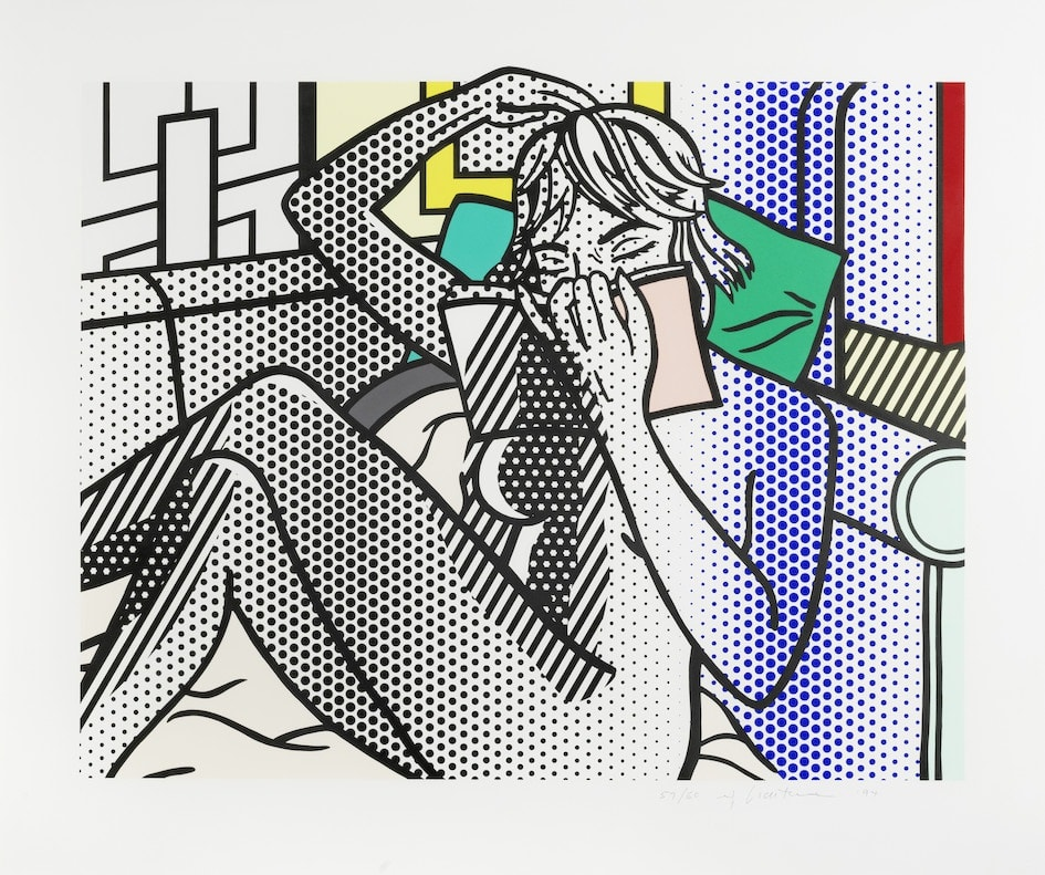 Roy Lichtenstein, Nude Reading, 1994 Relief print on Rives mold-made paper 30⅝ x 36 5/16 inches Edition of 60