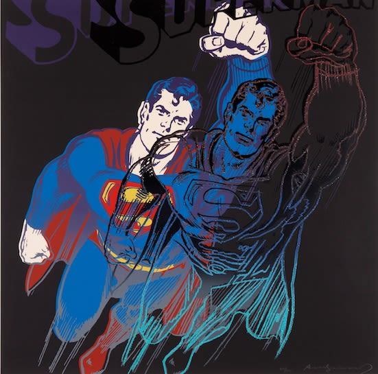Andy Warhol, Superman, 1981 Screenprint on Lenox Museum Board 38 x 38 inches Edition of 200