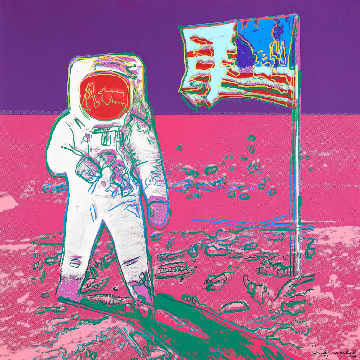 Andy Warhol, Unique Moonwalk, 1987 Screenprint on Lenox Museum Board 38 x 38 inches Edition of 66