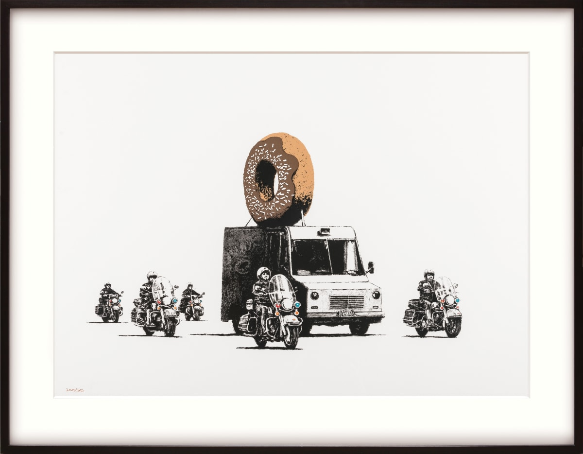 Banksy, Chocolate Donut, 2009 Screen print on Arches wove paper 56 x 76 cm Edition of 299