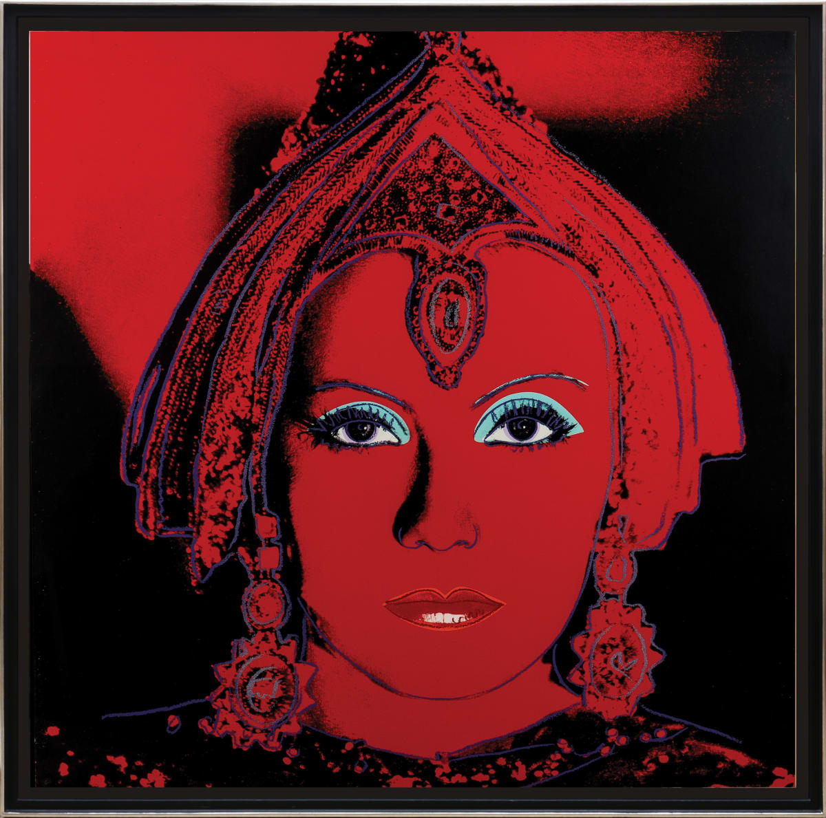 Andy Warhol, The Star (Greta Garbo), 1981 Screenprint in colours and diamond dust on Lenox Museum Board 96.5 x 96.5 cm Edition of 200 This image is after a photograph of Greta Garbo as Mata Hari by Clarence Sinclair Bull.