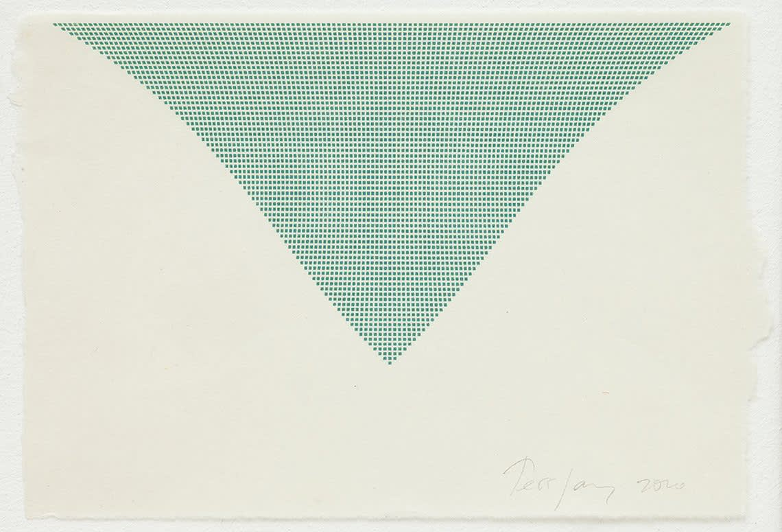 Tess Jaray, Untitled (Green Triangle), 2010 Inkjet on archival paper 16.5 x 24 cm