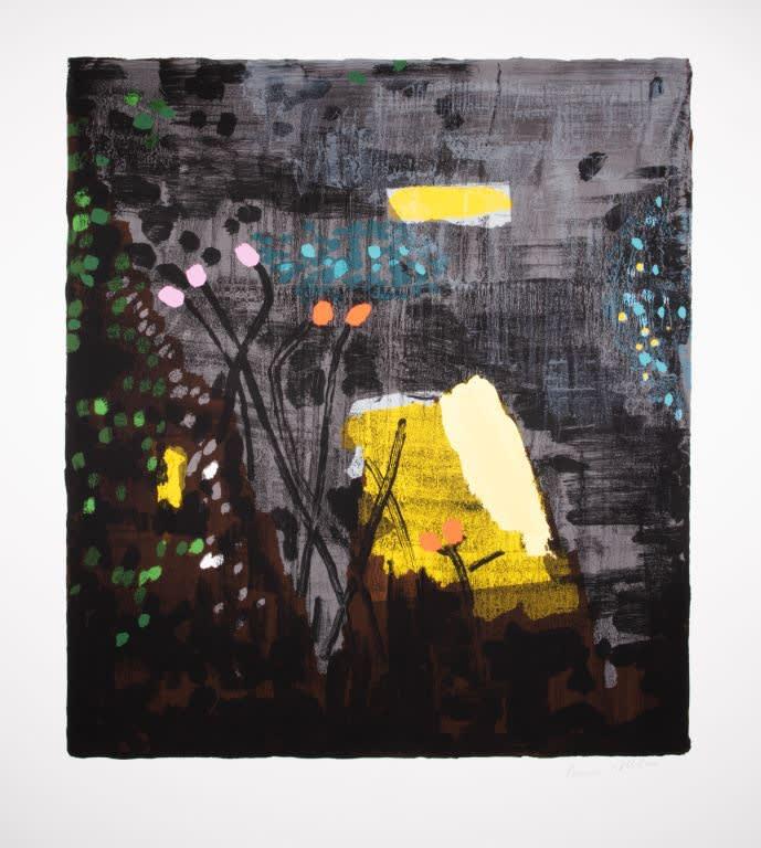 Bruce McLean, Dark Grey Garden San Carigol, 2019 Silkscreen Print 105 x 116 cm Edition of 75