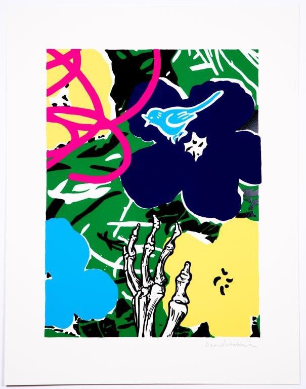 Dan Baldwin, Infatuation - Green, 2019 Silkscreen Print 63.8 x 83.5 cm Edition of 20