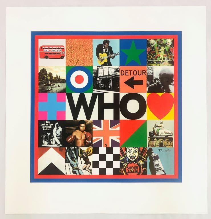Peter Blake, The Who, 2019 Silkscreen Print 73 x 75 cm Edition of 150