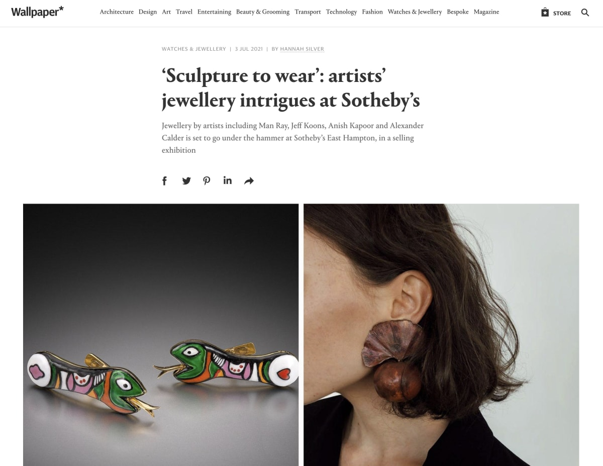 'Sculpture To Wear': Artists' Jewellery Intrigues At Sotheby's