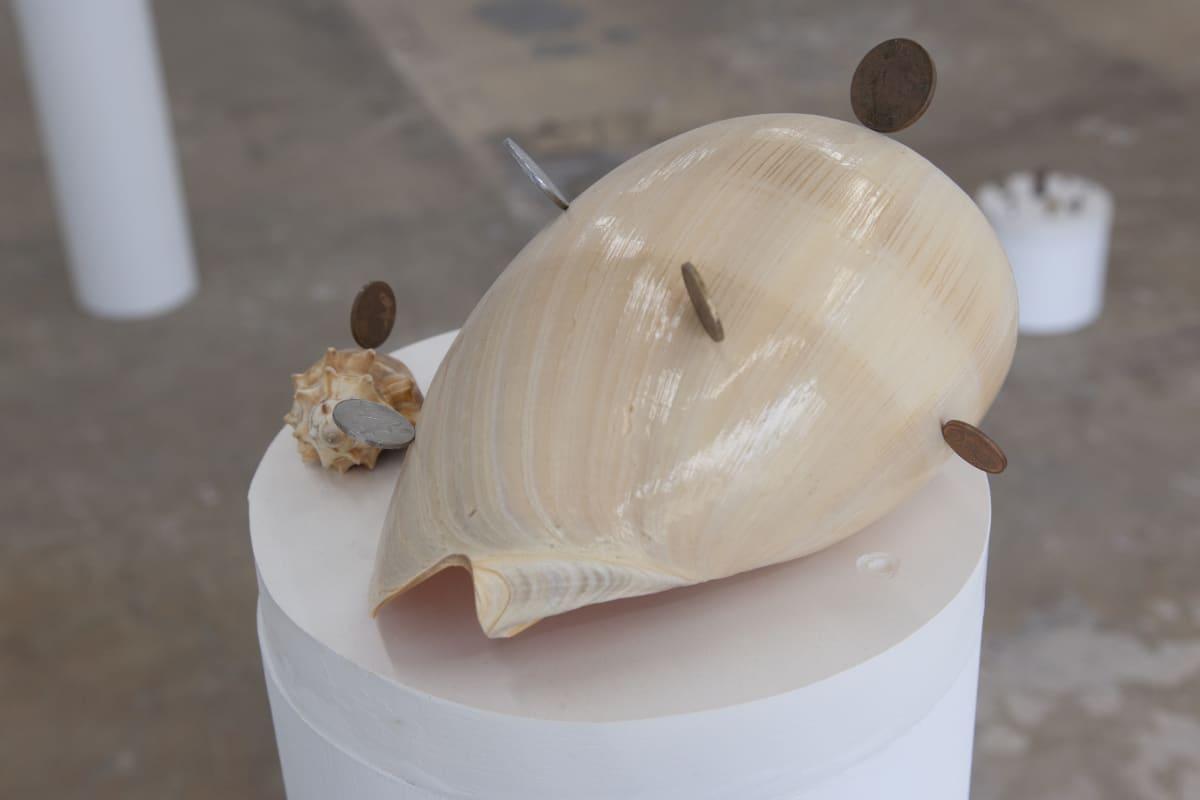 Adrian Abela, Sells/Sea/Shells (Semazen {for coin history}) #3, 2018