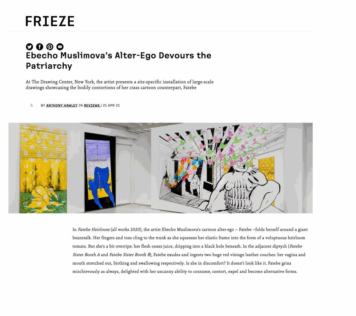 Ebecho Muslimova's Alter-Ego Devours the Patriarchy | Frieze | by Anthony Hawley