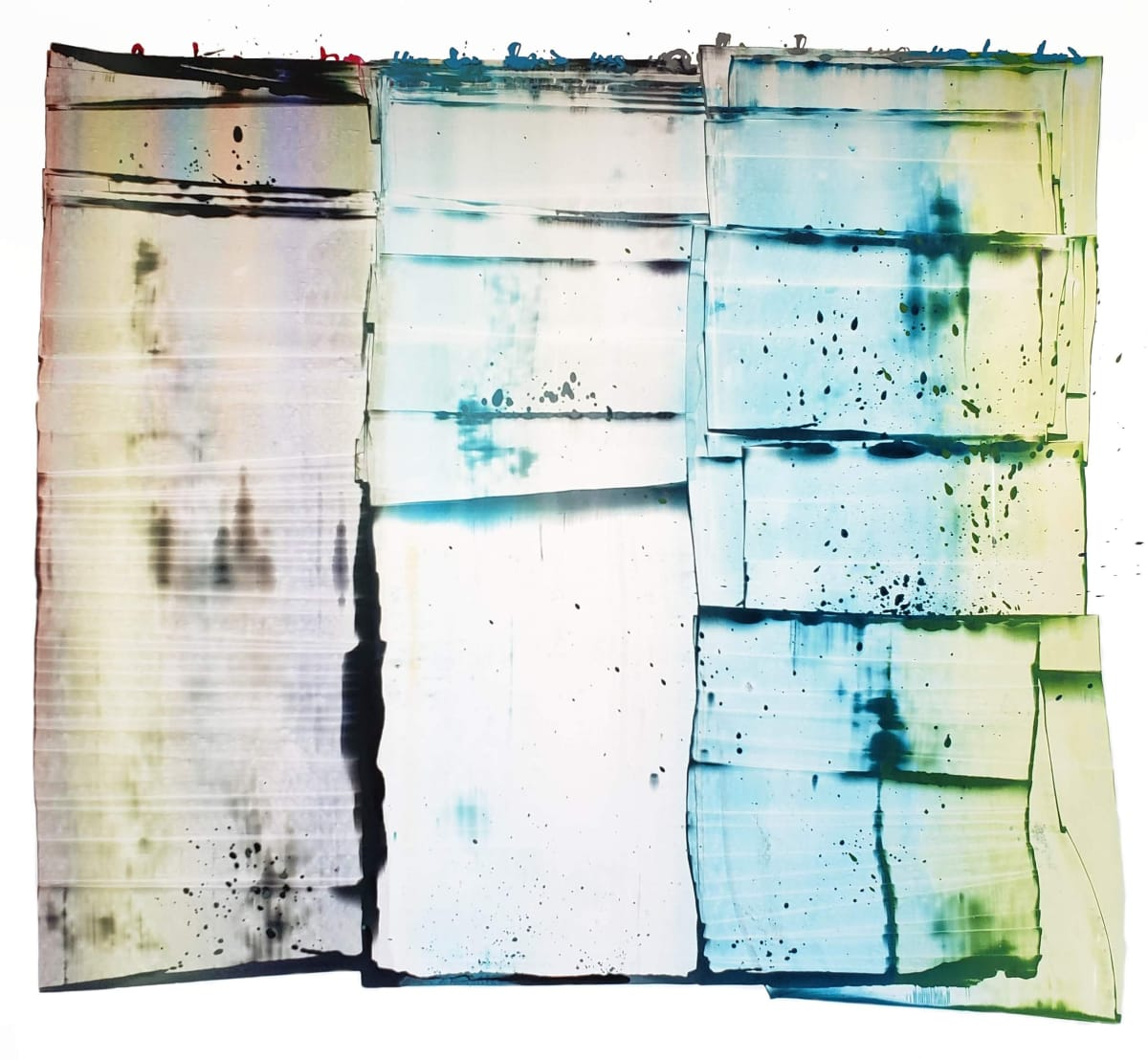Abstract colorful ink painting by Sarah Irvin