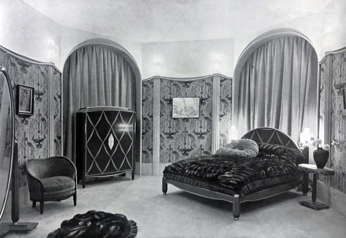 Art Deco master bedroom Paris, 1928