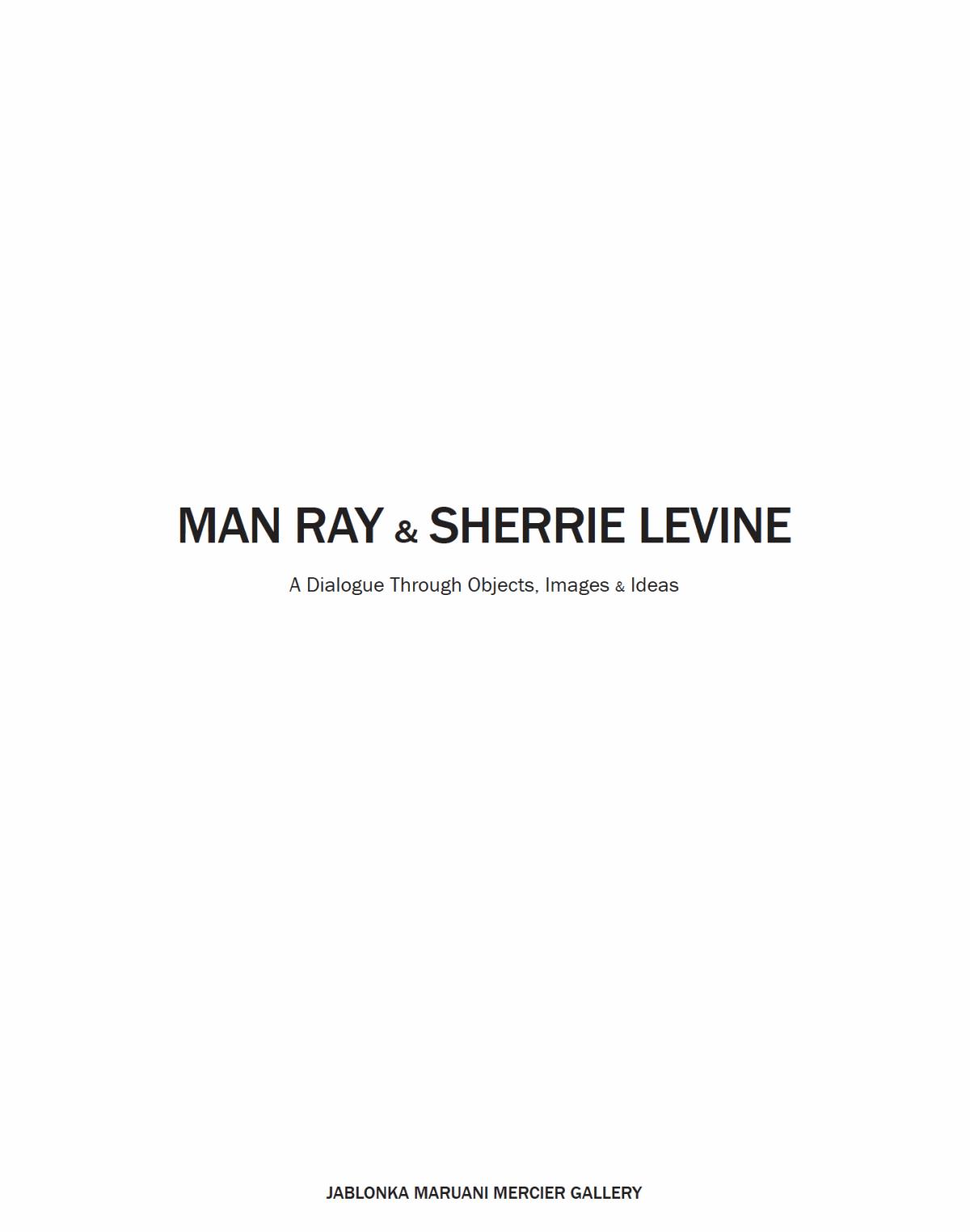 Man Ray & Sherrie Levine