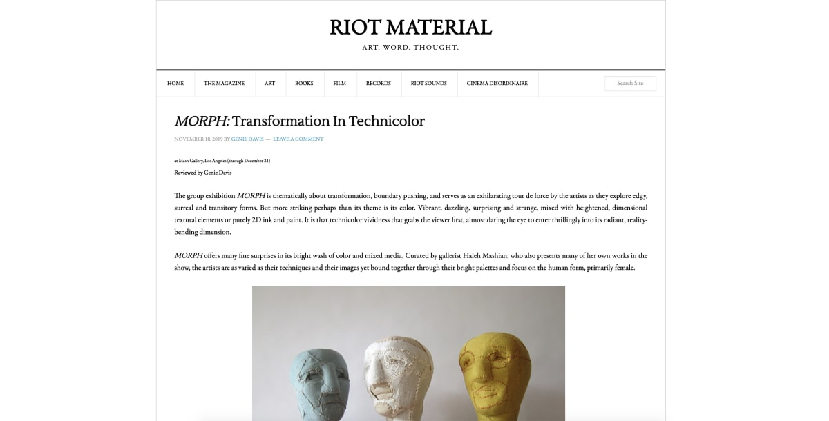 MORPH: Transformation In Technicolor