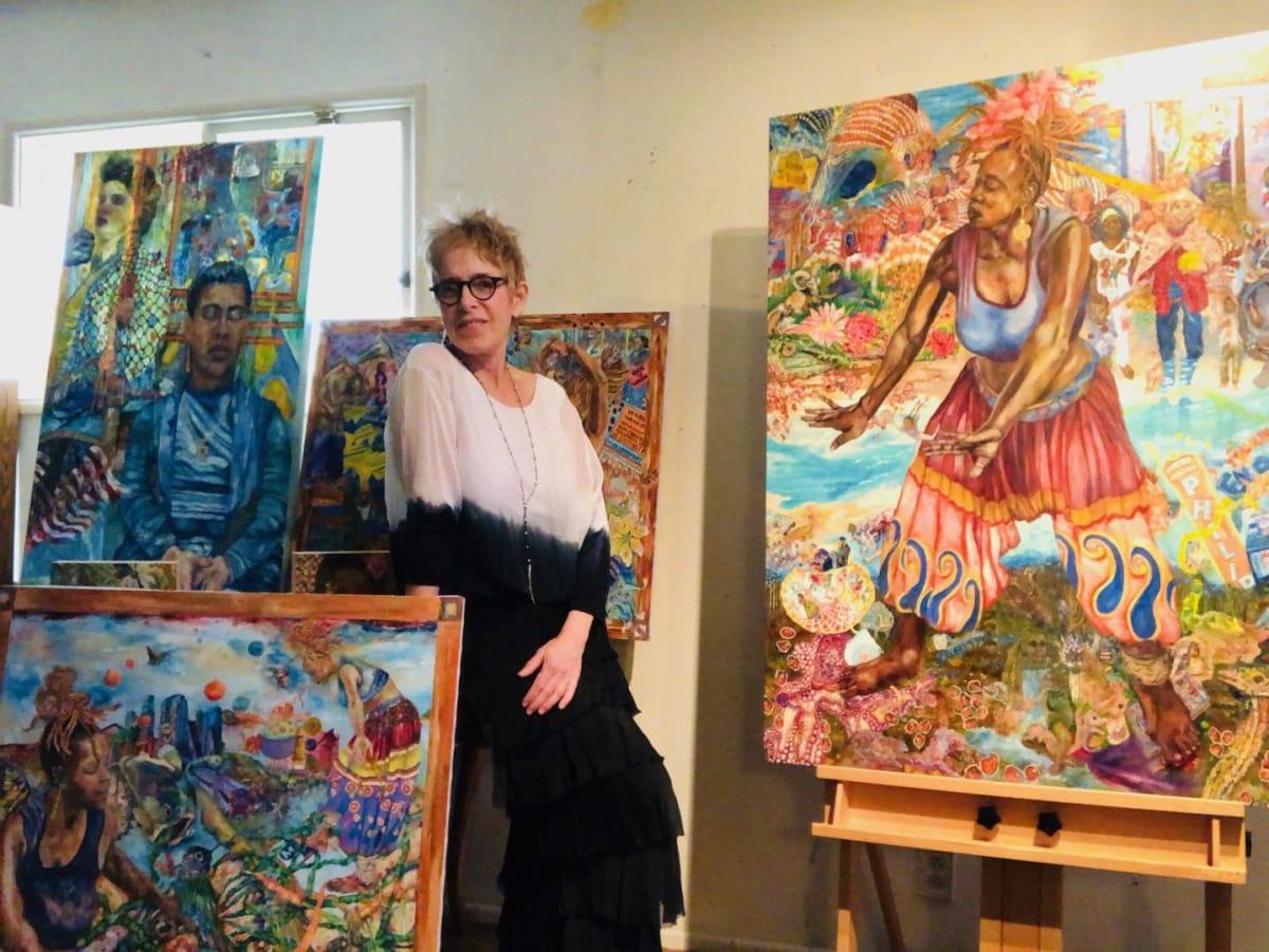 Jodi Bonassi in her Studio in Los Angeles, CA