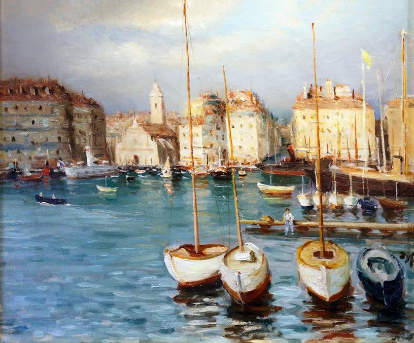 "<span class=""artist""><strong>Marcel Dyf</strong></span>, <span class=""title""><em>Scène de Port</em>, circa 1930</span>"