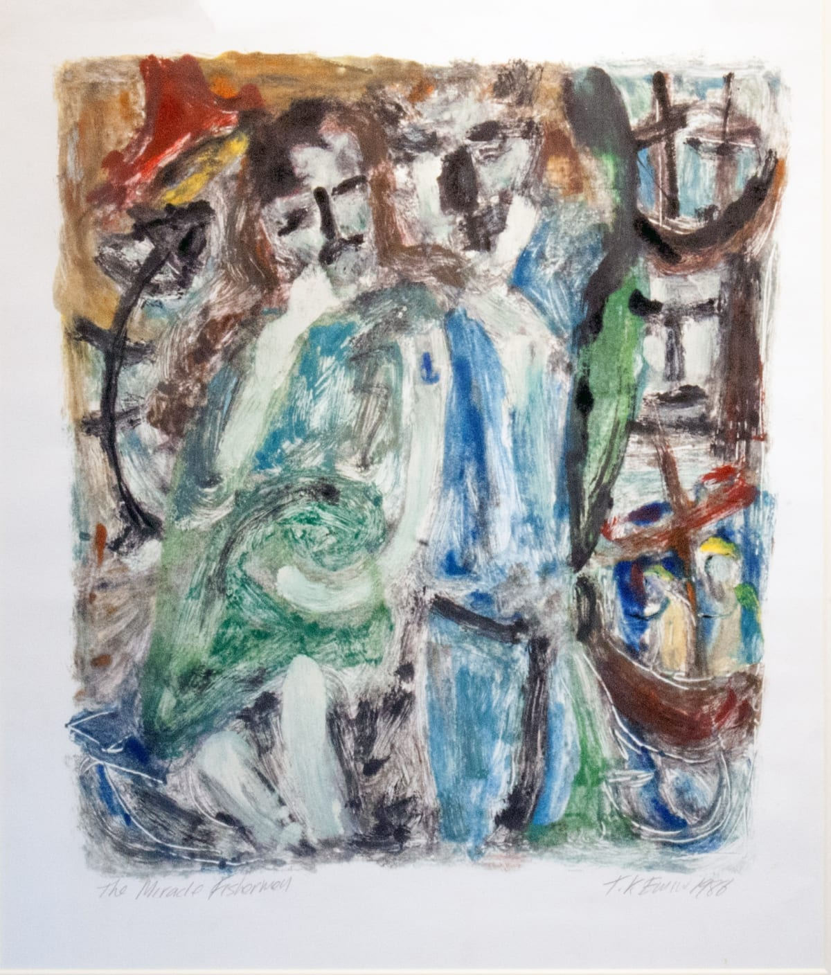 """<span class=""""artist""""><strong>Tracey Emin</strong></span>, <span class=""""title""""><em>The Miracle Fishermen</em>, 1986</span>"""