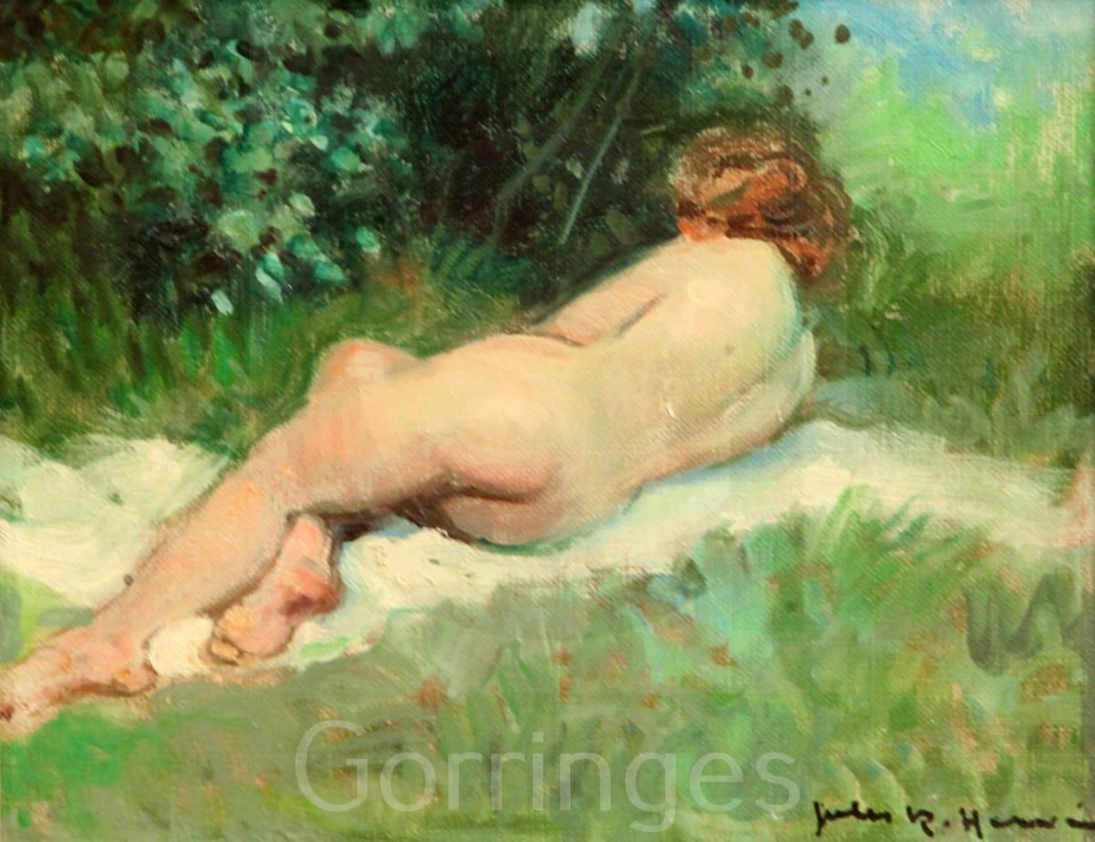 "<span class=""artist""><strong>Jules R. Herve</strong></span>, <span class=""title""><em> Reclining Female Nude</em></span>"
