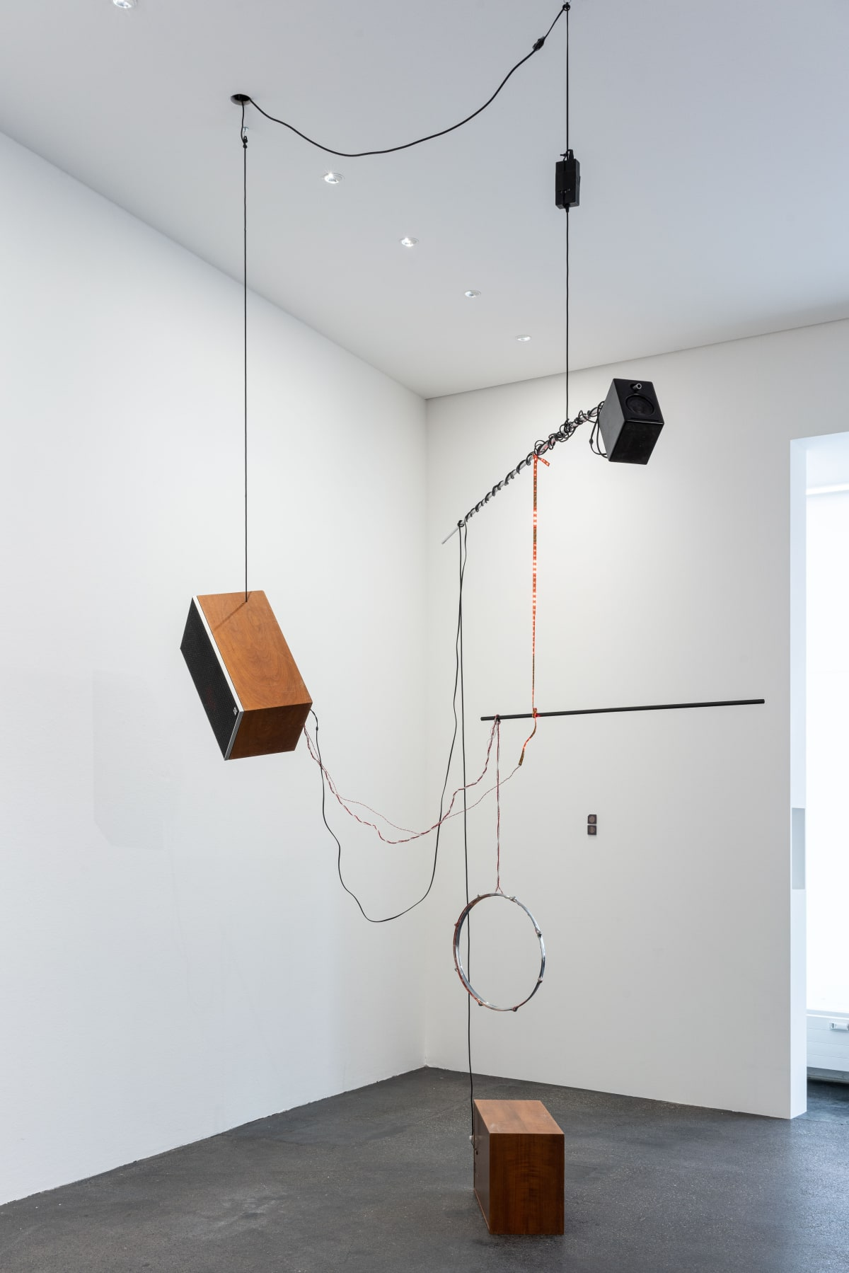 Haroon Mirza Untitled Song #1 (Detail), 2012 Mixed media Dimension variable, ca. 300 x 200 x 200 cm 118 1/8...