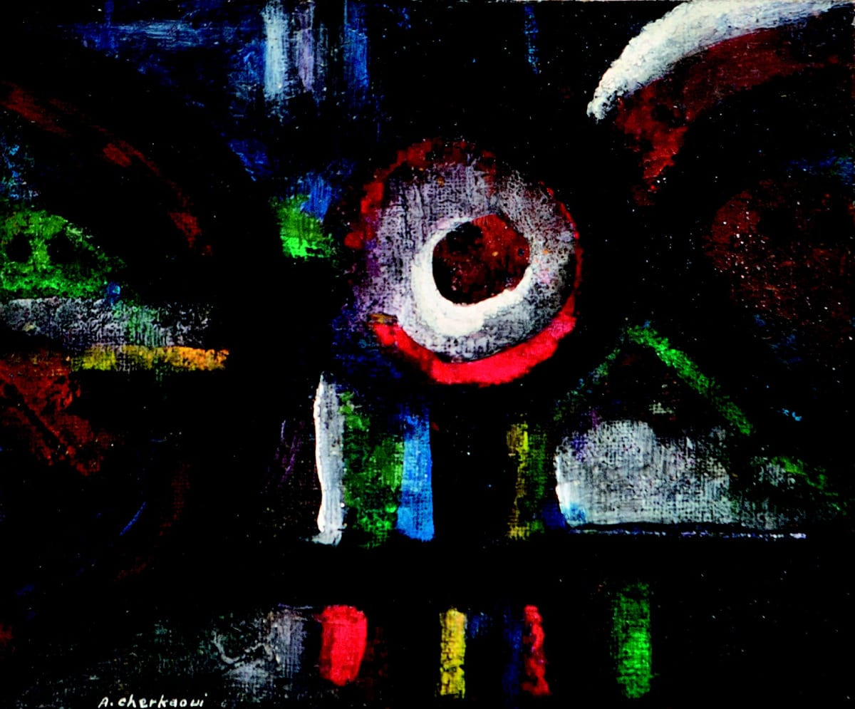 Ahmed Cherkaoui - Les Miroirs Noirs VII, 1965