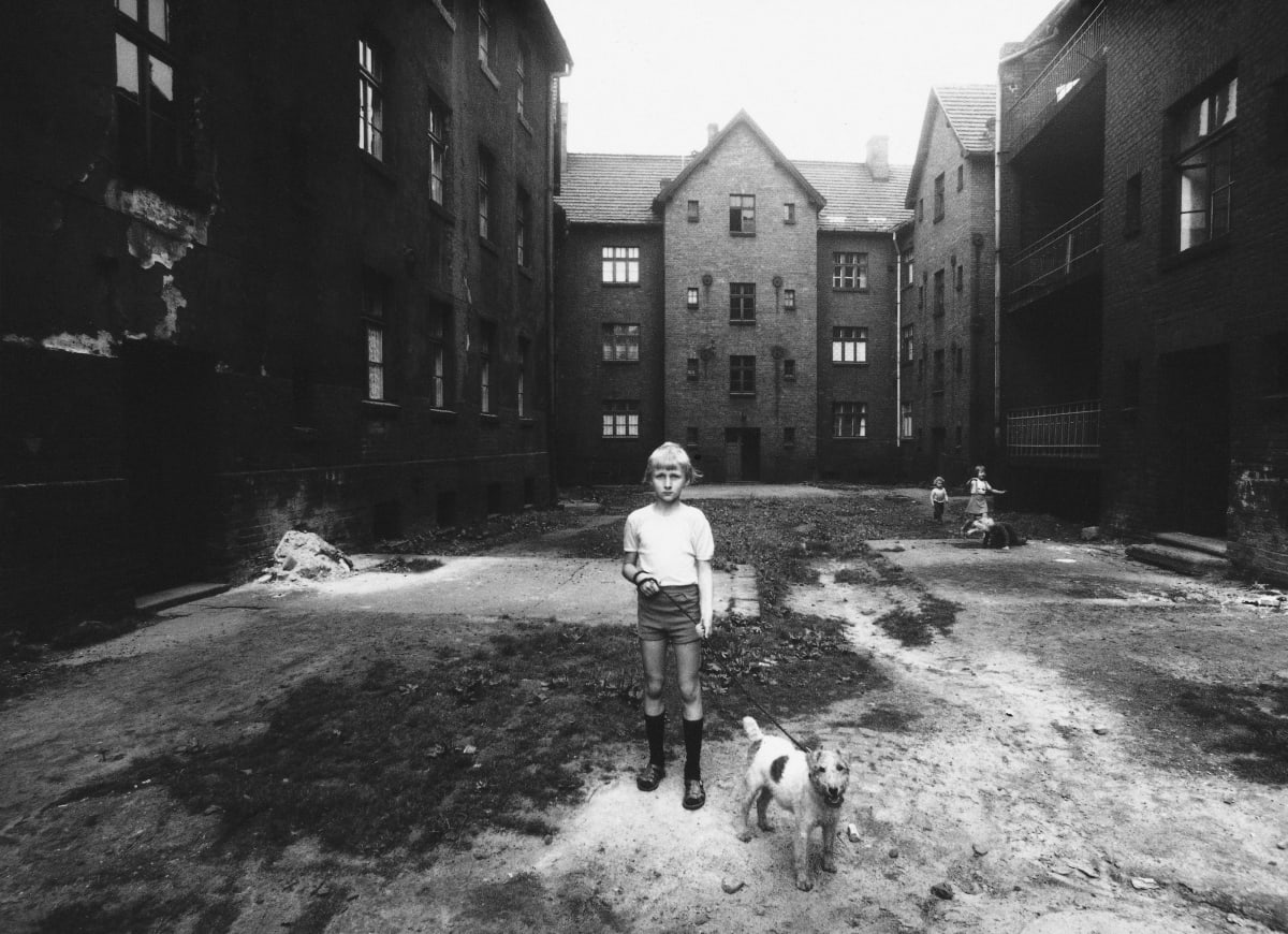 Michal Cala, Boy with a dog, 1978