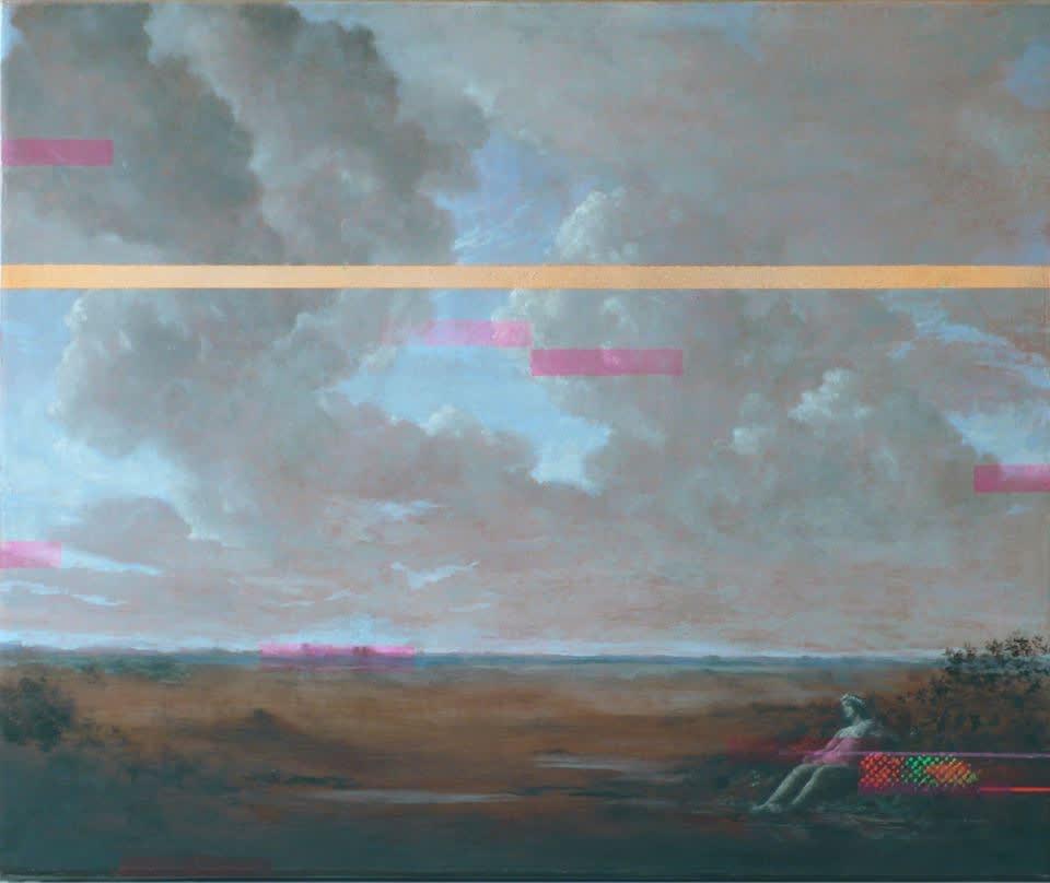 Primavera oil, ink & sgrafitto on canvas 25 x 30 cm